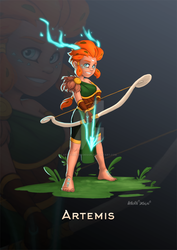 Artemis, the huntress by ArtOfRebornDesign