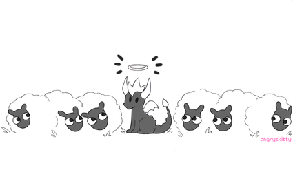 No sheep were harmed in the making of this picture by Katarinu