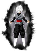 Black Goku Ssj White by alphagreywind