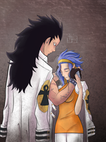 Gajeel and Levy by Tipsutora