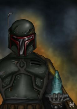 Boba Fett A Professional by S-K-E