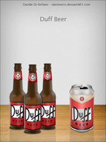 Duff Beer by Davinness