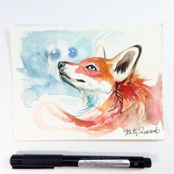Fox Watercolor Mini by Lucky978