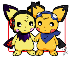 Pichu couple by Niekkk