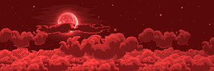 Red Cloudscape by Wolfenoctis
