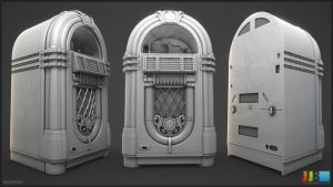 Jukebox - Highpoly by JeremiahBigley