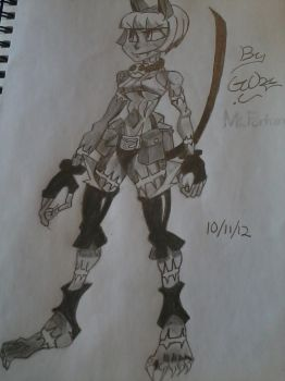 skullgirls Fanart: Ms Fortune by Gabe C. by UniverseIncarnate