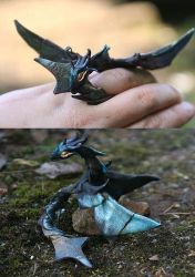 Star  Stell/ fully poseable ring dragon by kessan