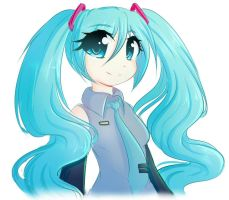 Miku Doodle by FluffyMaiden