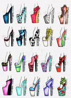 20 Simple Heels by AlirizaDesign