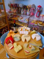 Assortment of cheese from miniature deli by LittlestSweetShop