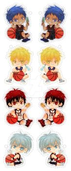 KuroBasu Keychans/Straps by Kawaii-Dream