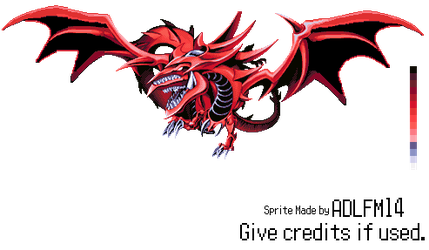 Slifer The Sky Dragon Sprite by ADLFM14