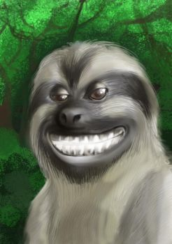 Grinning Sloth Tebo by GrapheeD