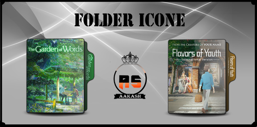 Flavers of youth AND Garden of Words FOLDER ICON by ASaakash