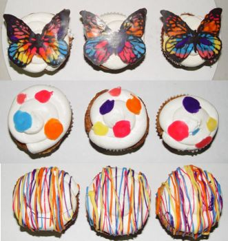 Bright Cupcakes by stacylambert