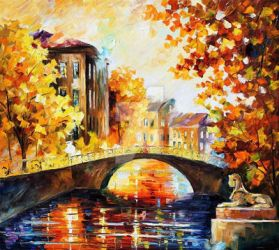 Petersburg Fall by Leonid Afremov by Leonidafremov