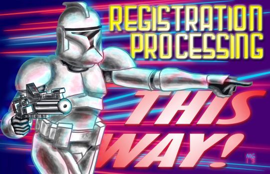 Registration THIS WAY! by g-technical