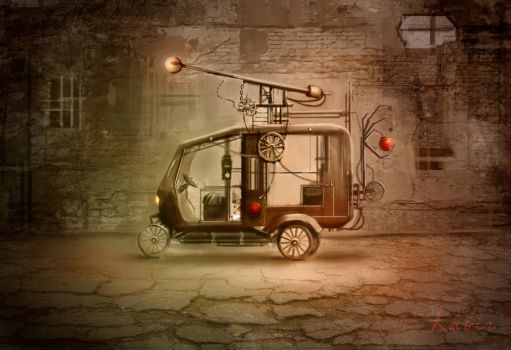 Steampunk Rickshaw by sketchypages