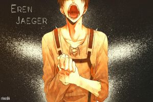 Eren Jaeger Wallpaper by Rinoshi