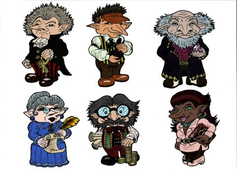 Gringotts Goblins by SandyLeDandy