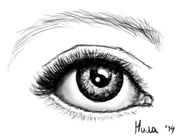 My eye by MikaMilaCat