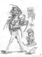 Werefish + sketches by MIKECORRIERO
