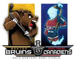 NHL-PLAYOFFS-Rd2 Bruins vs. Canadiens by Epoole88