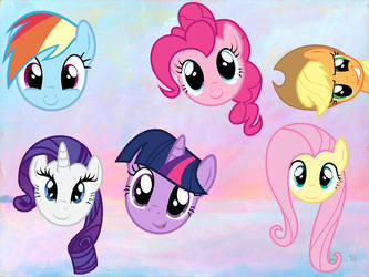 Pony faces by florecentflower