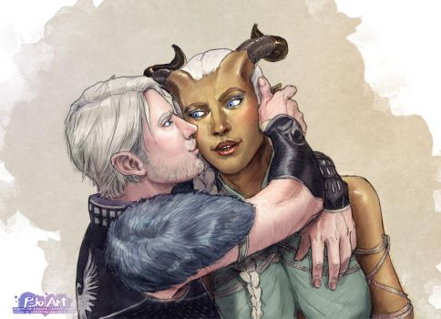 Issala and Ayreon by P-JoArt