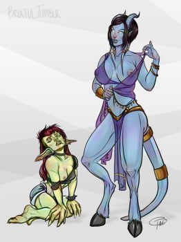 Draenei and Goblin Version 1 by MissTakArt