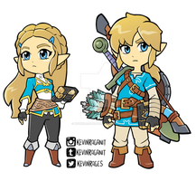 Zelda and Link Breath of the Wild by KevinRaganit