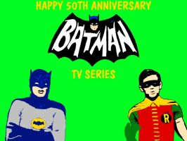 Batman TV Series 50th Anniversary by mrentertainment