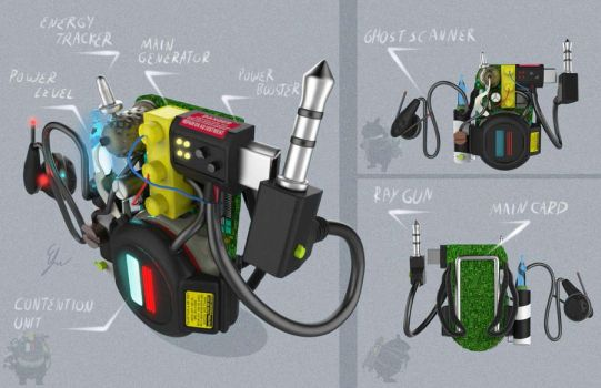 Sug Buster's proton pack by Efraimrdz