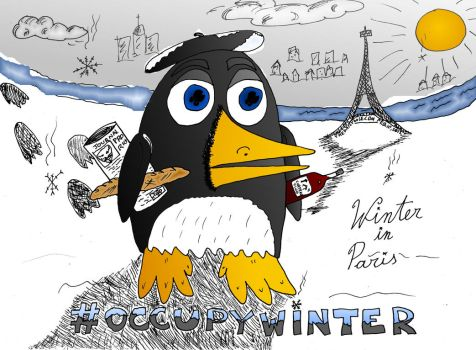 occupy winter editorial cartoon by amazingn3ss