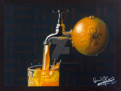 Contest Entry- Fresh Orange Juice by CraftyCoupleArtistry