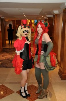Steampunk Harley and Ivy by Little-Quinn