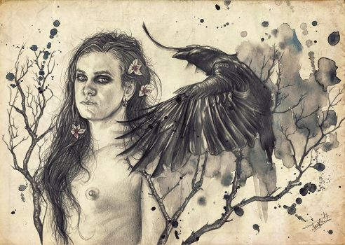 The Crow and the Goddess by Heteferes