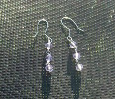 Lavender Earrings by zaphod-beeblebroxie