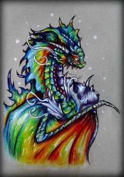 ~ Rainbow Dragon ~ by SaphireDragon16