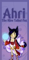 Ahri bookmark design by Hotaru-oz
