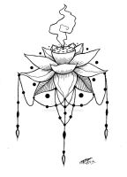 Smoking Lotus Tattoo Design! :3 by ShannonxNaruto