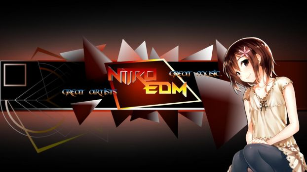 Nitro EDM, Youtube Banner (by HappySquid Music) by Myyr-feylixx