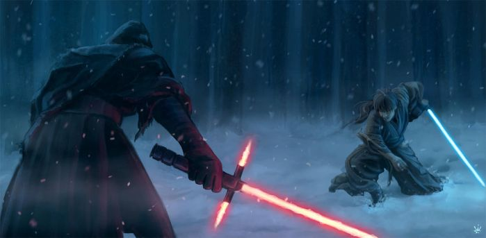 Sith vs. Jedi (Star Wars) by Kirana