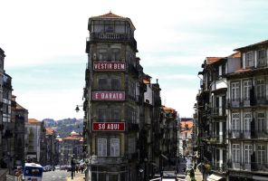 Porto view from the Station into the old town by UdoChristmann