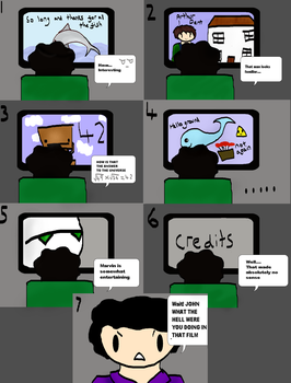 Sherlock watches Hitchhikers guide to the galaxy by Bluesheepy