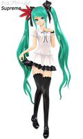 Supreme Hatsune Miku - Koron Style - Download! by xDreamShardsx