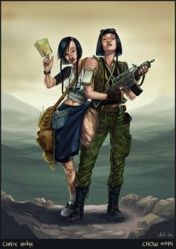 Post Apocalyptic Siamese Twins by ChateNoire