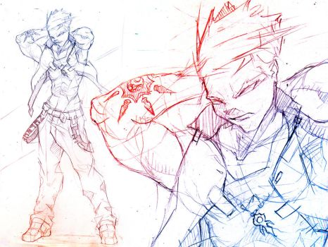 Character Design - Fighter X by TKMX