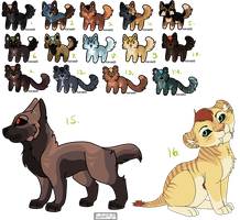 Canine and feline adopts [CLOSED] by SAdoptsS